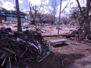 Image: Remnants of the Mama's Market, Port Vila (Credit: T. Brimacombe)